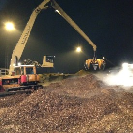 Loading Woodchips at Riga, Latvia