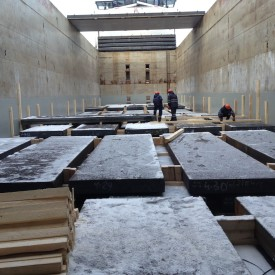 Loading Steel Plates at Ust Luga, Russia
