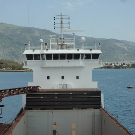 Loading Bauxiet at Itea, Greece.