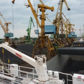Loading HBI at Klaipeda, Lithuania.